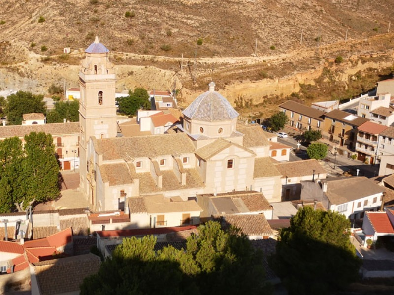 Oria church - from above