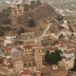 View from Cerro de la Cruz - see the church and the ruins?
