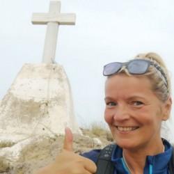 Yes, I made it. It's quite a climb to the Cerro de la Cruz
