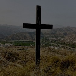 The cross which overlooks the village, offering protection
