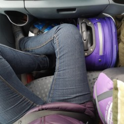 We didnt have much room in the van.